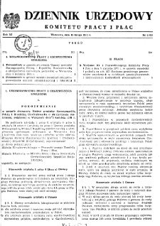 Dziennik Urzędowy Komitetu Pracy i Płac : 1971, nr 1