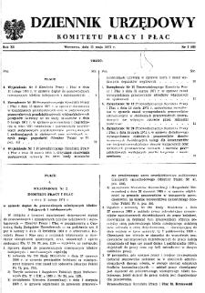 Dziennik Urzędowy Komitetu Pracy i Płac : 1971, nr 2