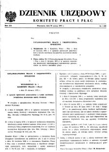 Dziennik Urzędowy Komitetu Pracy i Płac : 1972, nr 1