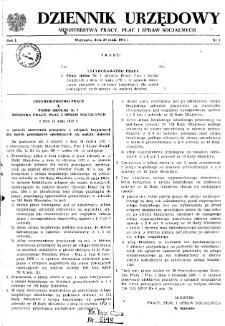 Dziennik Urzędowy Ministerstwa Pracy, Płac i Spraw Socjalnych : 1972, nr 1