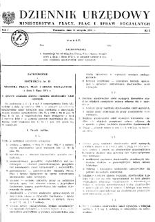 Dziennik Urzędowy Ministerstwa Pracy, Płac i Spraw Socjalnych : 1972, nr 2