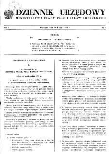 Dziennik Urzędowy Ministerstwa Pracy, Płac i Spraw Socjalnych : 1972, nr 3