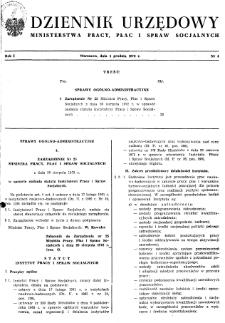 Dziennik Urzędowy Ministerstwa Pracy, Płac i Spraw Socjalnych : 1972, nr 4