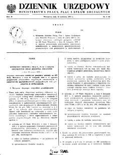 Dziennik Urzędowy Ministerstwa Pracy, Płac i Spraw Socjalnych : 1973, nr 1