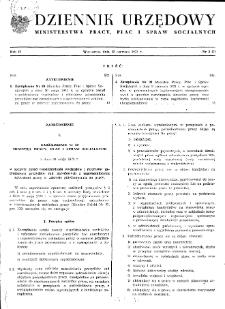 Dziennik Urzędowy Ministerstwa Pracy, Płac i Spraw Socjalnych : 1973, nr 3