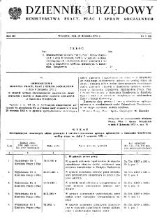 Dziennik Urzędowy Ministerstwa Pracy, Płac i Spraw Socjalnych : 1973, nr 7