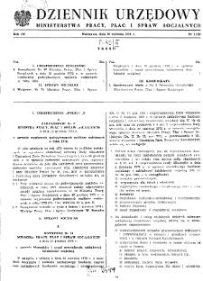 Dziennik Urzędowy Ministerstwa Pracy, Płac i Spraw Socjalnych : 1974, nr 1