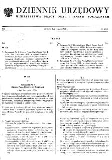 Dziennik Urzędowy Ministerstwa Pracy, Płac i Spraw Socjalnych : 1974, nr 4