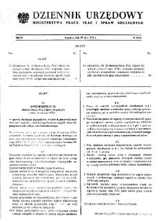 Dziennik Urzędowy Ministerstwa Pracy, Płac i Spraw Socjalnych : 1974, nr 8