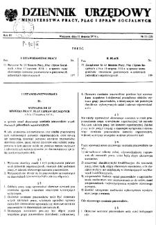 Dziennik Urzędowy Ministerstwa Pracy, Płac i Spraw Socjalnych : 1974, nr 11