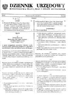 Dziennik Urzędowy Ministerstwa Pracy, Płac i Spraw Socjalnych : 1974, nr 12