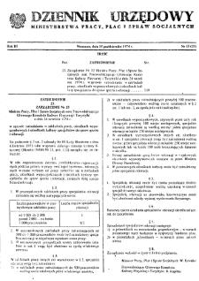 Dziennik Urzędowy Ministerstwa Pracy, Płac i Spraw Socjalnych : 1974, nr 13