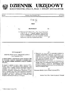 Dziennik Urzędowy Ministerstwa Pracy, Płac i Spraw Socjalnych : 1974, nr 17