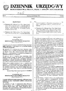 Dziennik Urzędowy Ministerstwa Pracy, Płac i Spraw Socjalnych : 1975, nr 2