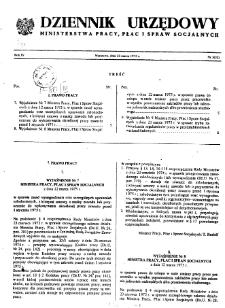 Dziennik Urzędowy Ministerstwa Pracy, Płac i Spraw Socjalnych : 1975, nr 3