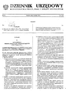 Dziennik Urzędowy Ministerstwa Pracy, Płac i Spraw Socjalnych : 1975, nr 4