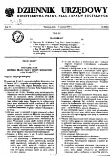 Dziennik Urzędowy Ministerstwa Pracy, Płac i Spraw Socjalnych : 1975, nr 5