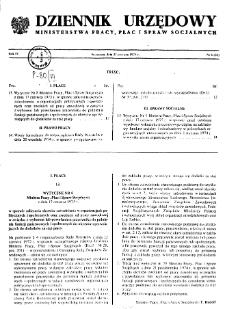 Dziennik Urzędowy Ministerstwa Pracy, Płac i Spraw Socjalnych : 1975, nr 6