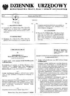 Dziennik Urzędowy Ministerstwa Pracy, Płac i Spraw Socjalnych : 1975, nr 7