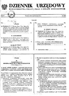 Dziennik Urzędowy Ministerstwa Pracy, Płac i Spraw Socjalnych : 1975, nr 9