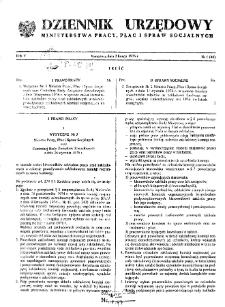 Dziennik Urzędowy Ministerstwa Pracy, Płac i Spraw Socjalnych : 1976, nr 1