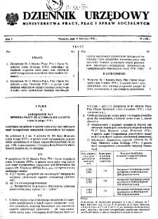 Dziennik Urzędowy Ministerstwa Pracy, Płac i Spraw Socjalnych : 1976, nr 2