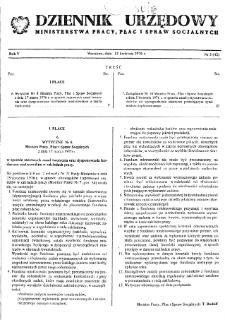 Dziennik Urzędowy Ministerstwa Pracy, Płac i Spraw Socjalnych : 1976, nr 3