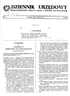 Dziennik Urzędowy Ministerstwa Pracy, Płac i Spraw Socjalnych : 1976, nr 4