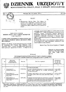 Dziennik Urzędowy Ministerstwa Pracy, Płac i Spraw Socjalnych : 1976, nr 5