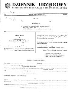 Dziennik Urzędowy Ministerstwa Pracy, Płac i Spraw Socjalnych : 1976, nr 6