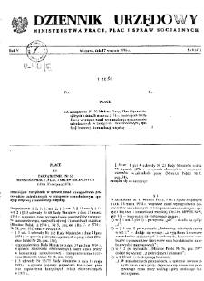 Dziennik Urzędowy Ministerstwa Pracy, Płac i Spraw Socjalnych : 1976, nr 8
