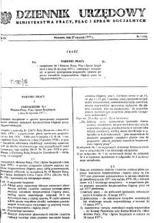 Dziennik Urzędowy Ministerstwa Pracy, Płac i Spraw Socjalnych : 1977, nr 1