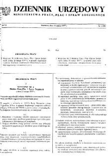 Dziennik Urzędowy Ministerstwa Pracy, Płac i Spraw Socjalnych : 1977, nr 2