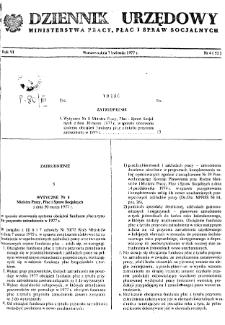 Dziennik Urzędowy Ministerstwa Pracy, Płac i Spraw Socjalnych : 1977, nr 4