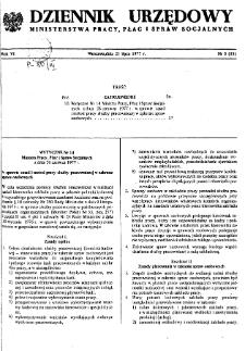 Dziennik Urzędowy Ministerstwa Pracy, Płac i Spraw Socjalnych : 1977, nr 5
