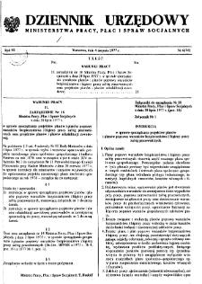 Dziennik Urzędowy Ministerstwa Pracy, Płac i Spraw Socjalnych : 1977, nr 6