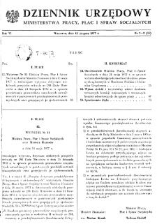 Dziennik Urzędowy Ministerstwa Pracy, Płac i Spraw Socjalnych : 1977, nr 7-9