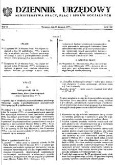 Dziennik Urzędowy Ministerstwa Pracy, Płac i Spraw Socjalnych : 1977, nr 10