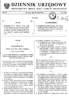 Dziennik Urzędowy Ministerstwa Pracy, Płac i Spraw Socjalnych : 1978, nr 1
