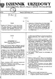Dziennik Urzędowy Ministerstwa Pracy, Płac i Spraw Socjalnych : 1978, nr 2