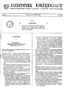 Dziennik Urzędowy Ministerstwa Pracy, Płac i Spraw Socjalnych : 1978, nr 4