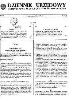 Dziennik Urzędowy Ministerstwa Pracy, Płac i Spraw Socjalnych : 1978, nr 6