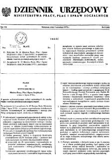 Dziennik Urzędowy Ministerstwa Pracy, Płac i Spraw Socjalnych : 1978, nr 8