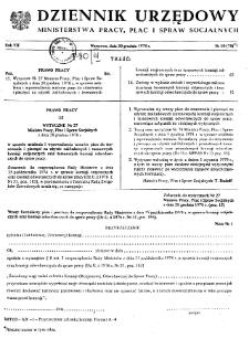 Dziennik Urzędowy Ministerstwa Pracy, Płac i Spraw Socjalnych : 1978, nr 10