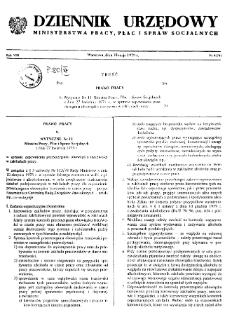 Dziennik Urzędowy Ministerstwa Pracy, Płac i Spraw Socjalnych : 1979, nr 4