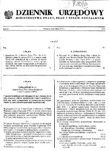 Dziennik Urzędowy Ministerstwa Pracy, Płac i Spraw Socjalnych : 1979, nr 5