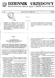 Dziennik Urzędowy Ministerstwa Pracy, Płac i Spraw Socjalnych : 1979, nr 2