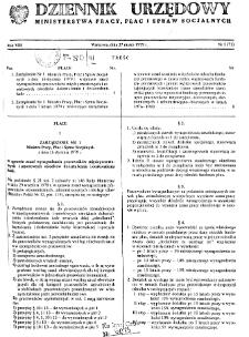 Dziennik Urzędowy Ministerstwa Pracy, Płac i Spraw Socjalnych : 1979, nr 1