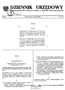 Dziennik Urzędowy Ministerstwa Pracy, Płac i Spraw Socjalnych : 1980, nr 1