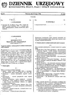 Dziennik Urzędowy Ministerstwa Pracy, Płac i Spraw Socjalnych : 1980, nr 2